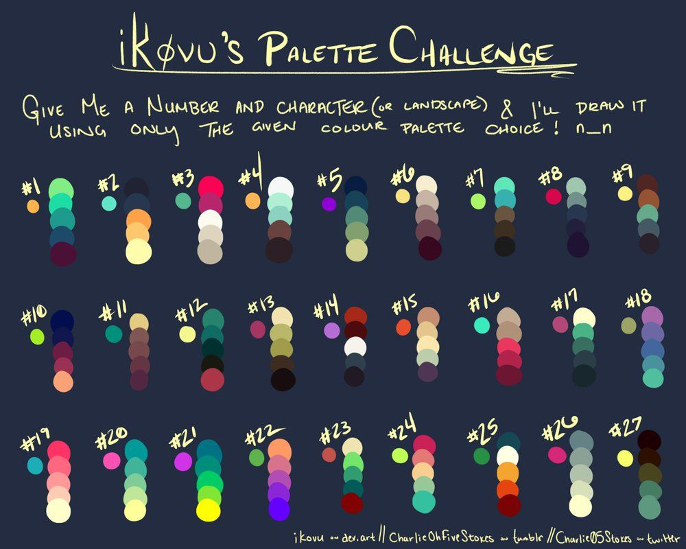 Ikovus Palette Challenge Resources By Kingbrovu Color Combo In