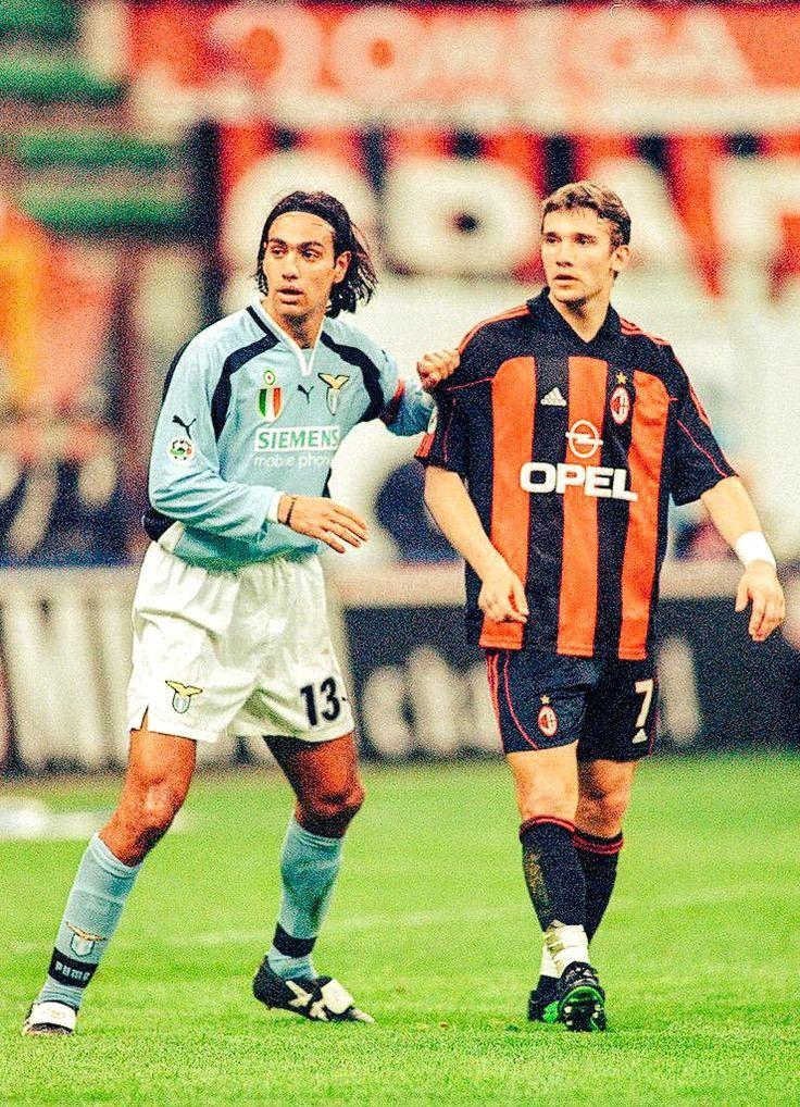Alessandro Nesta & Andriy Shevchenko, (S.S. Lazio vs AC Milán)