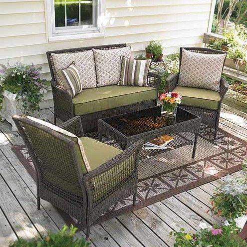 Outdoor Wicker Deck Furniture Deck Furniture Layout Patio