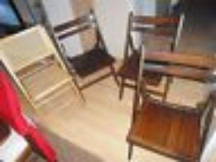 4 Klappstühle Holz Massiv, Zusammen In Nordrhein Westfalen   Hattingen | Stühle  Gebraucht Kaufen