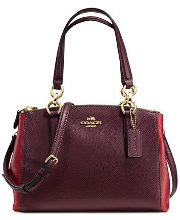 a7a2ba74b4 COACH Colorblock Mini Christie Carryall Satchel | macys.com | Things ...