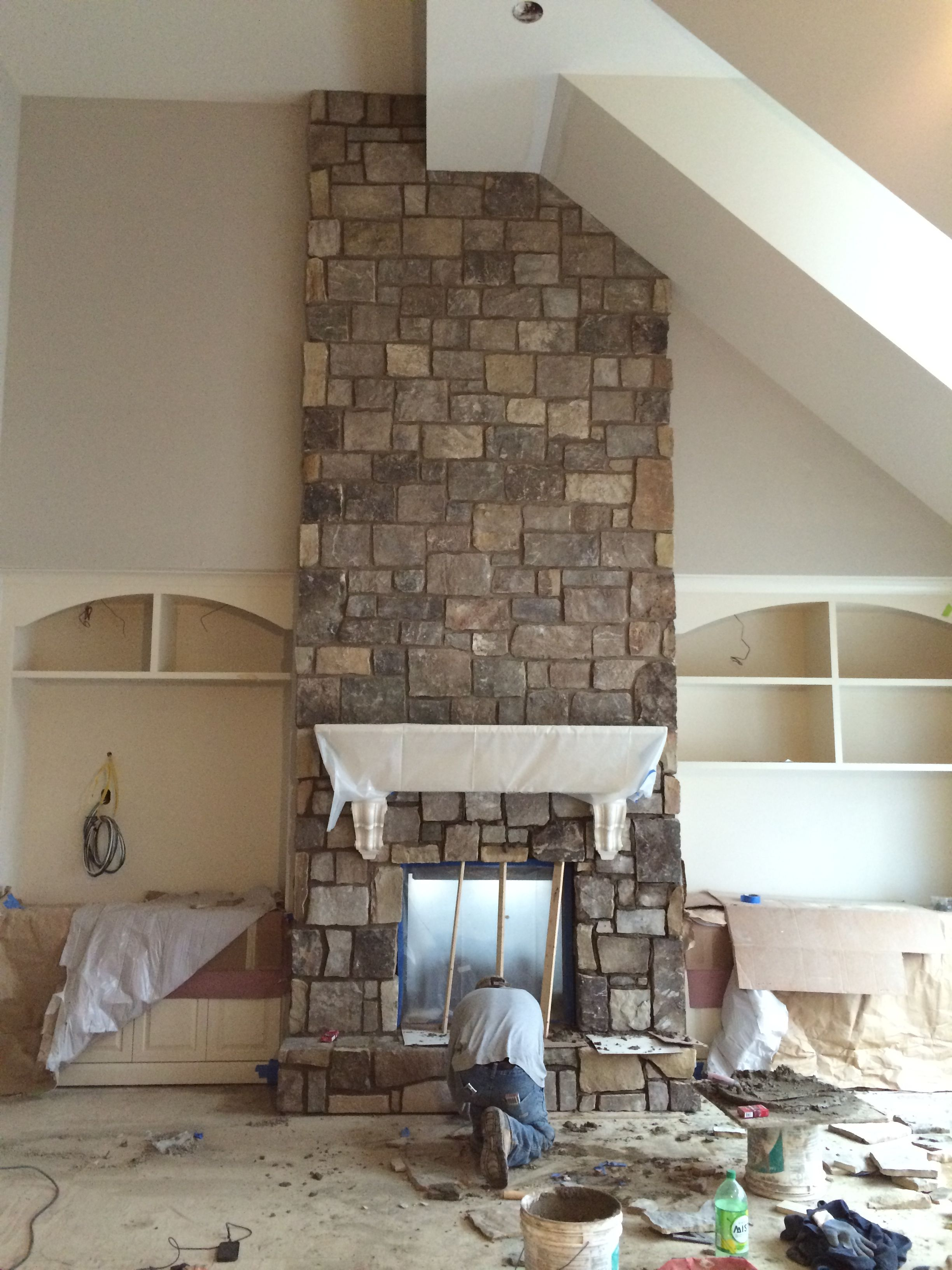 Great Room Stone Almost Done Natural Stone Veneer Intl In