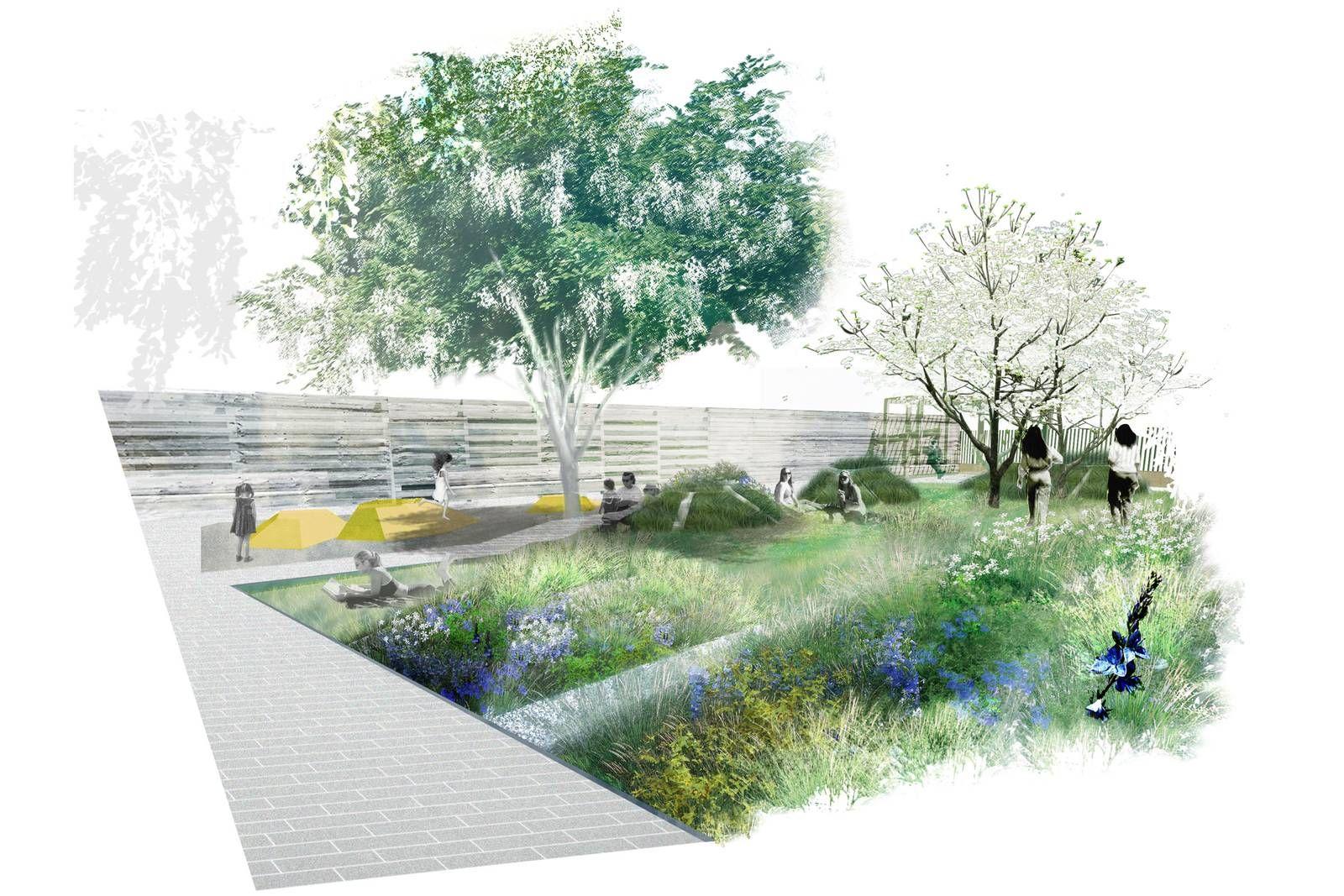 Landscape Architecture Perspective Drawings future green : portfolio : the village park | cg | pinterest