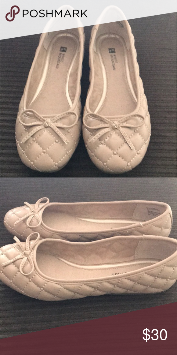 White mountain shoes, Taupe flats