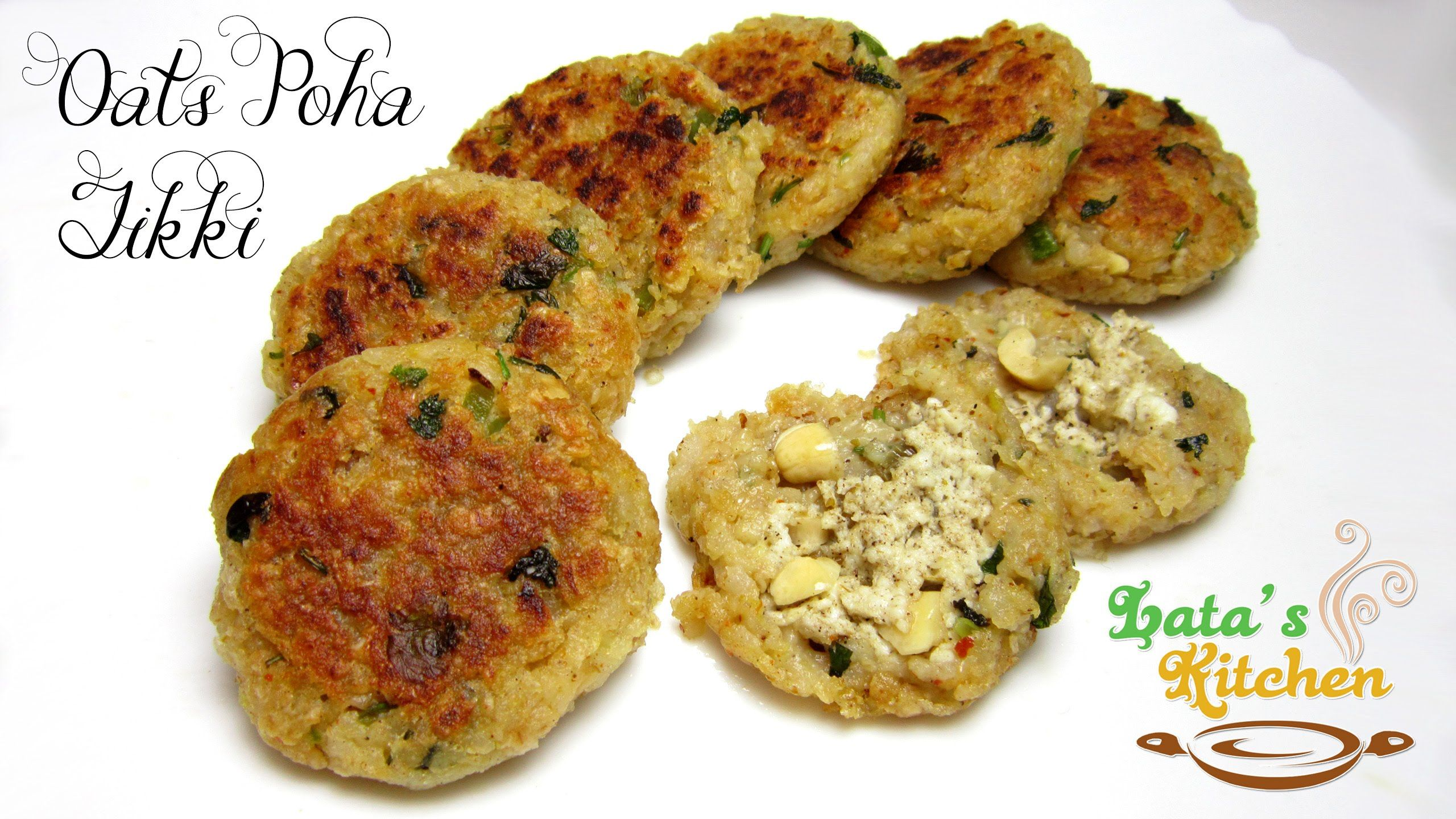 Oats poha tikki a handful of healthful january 2015 pinterest oats poha tikki recipe indian patties recipe in hindi with english subtitles latas kitchen forumfinder Choice Image