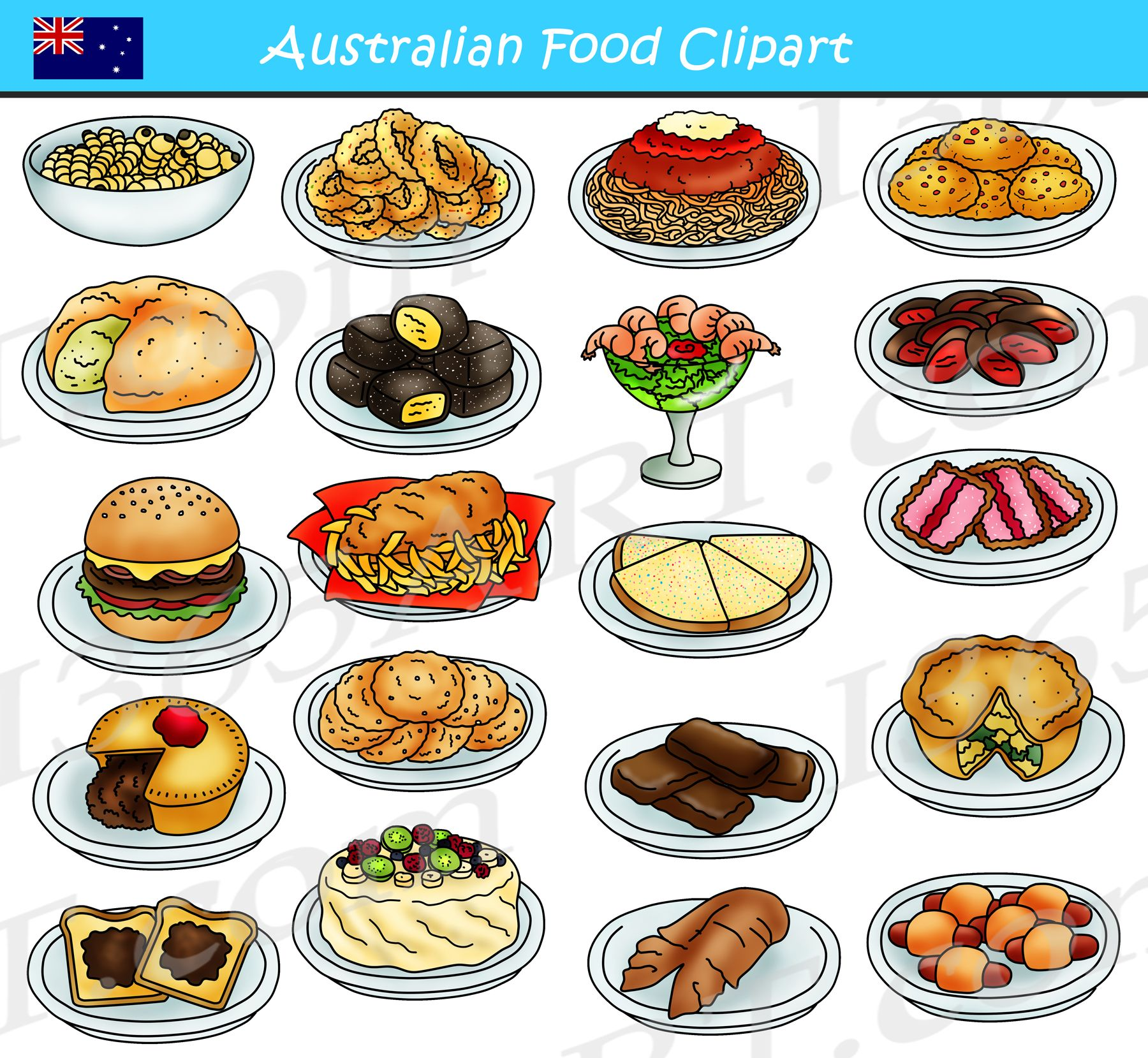 Food dinner. Australian clipart graphics download