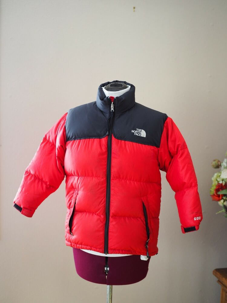 f9b4a683f The North Face Coat KIDS Large Bubble Puffer Jacket Red Black 600 ...