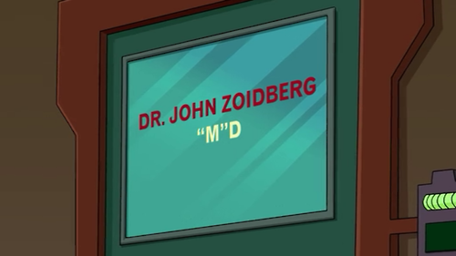 """Zoidberg, """"M"""" D #Futurama"""