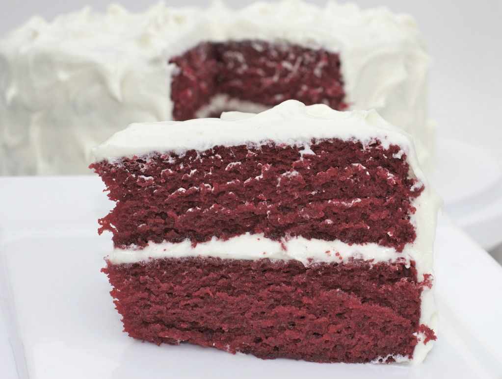 the BEST red velvet cake recipe i have tried this on my husbands