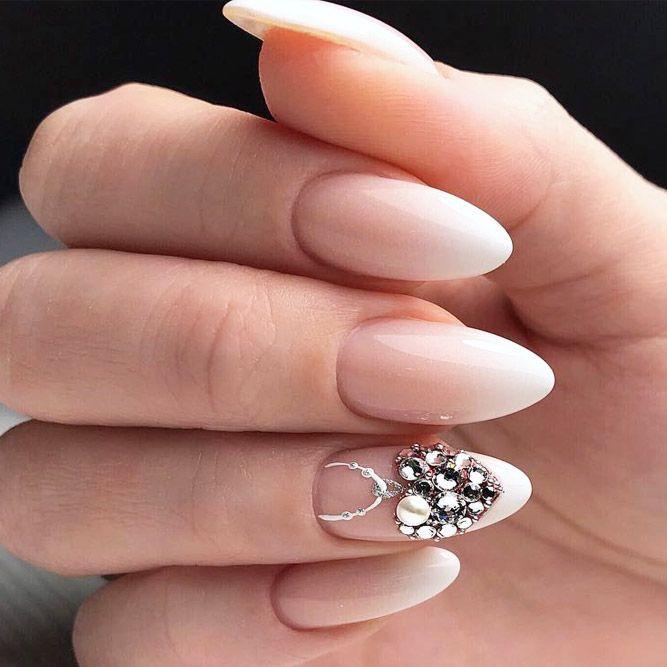 30 Wow Wedding Nail Ideas   Wedding Forward   Beige nails