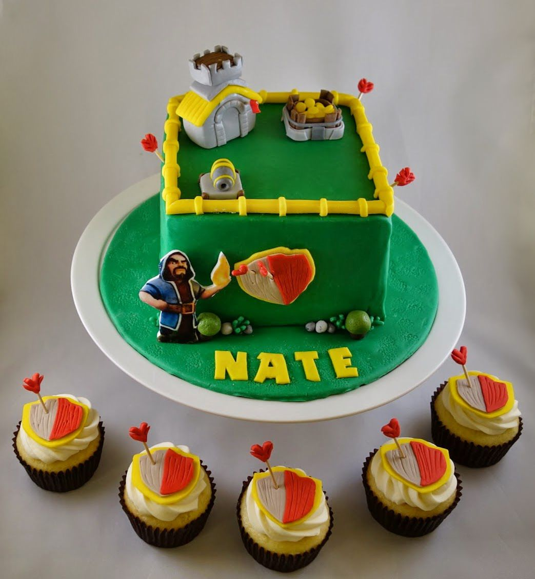 Cake Design Coc : Clash of Clans Cake and Cupcakes Sweet Tweets bakeshop ...