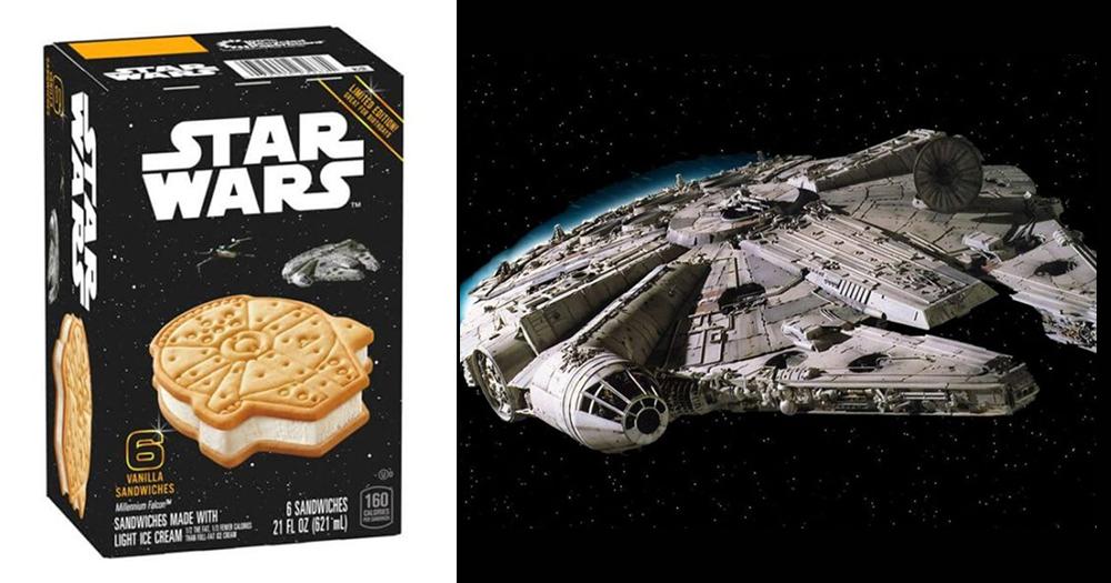 Millennium Falcon Ice Cream Sandwiches From A Galaxy Far, Far Away #icecreamsandwich