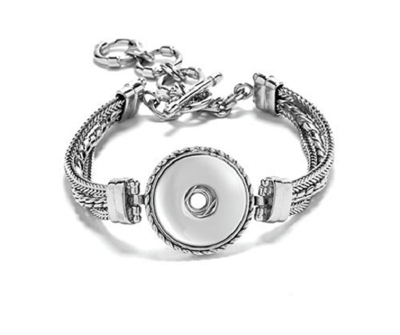 Ginger Snap Bracelet   GINGER SNAPS™ Multi Chain Bracelet for One Interchangeable Ginger ...