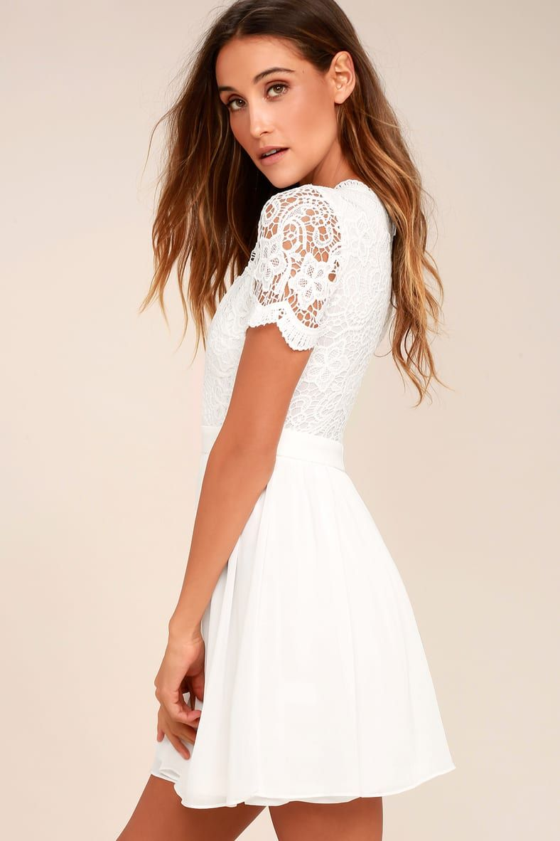 Angel In Disguise White Lace Skater Dress In 2021 White Lace Skater Dress White Dresses For Women Lace Skater Dress [ 1182 x 788 Pixel ]