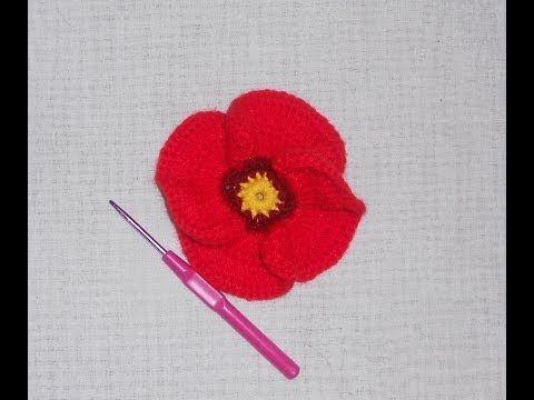 Tutorial uncinetto - Primula all\'uncinetto - fiore crochet - YouTube ...