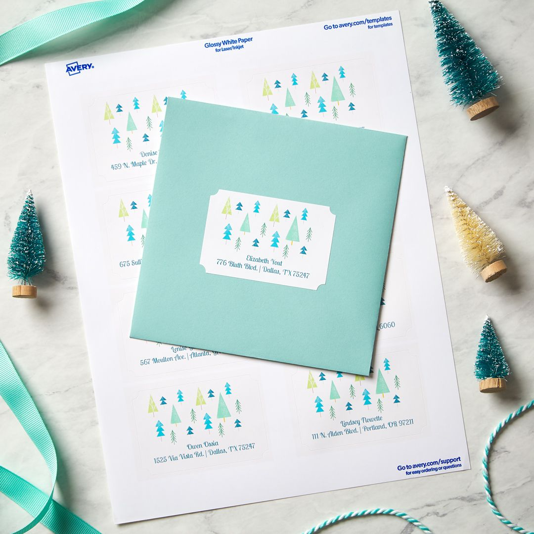 Avery Labels Cards Dividers Office Supplies More Holiday Labels Christmas Card Labels Diy Holiday Gift Wrapping