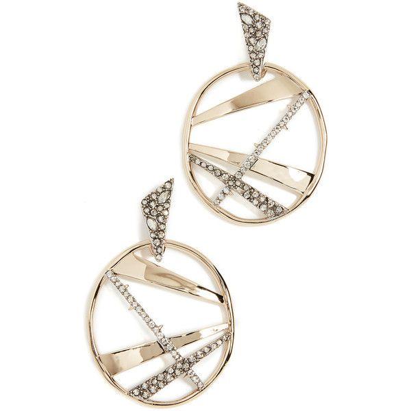 Alexis Bittar Crystal Encrusted Plaid Dangling Earring kli8E