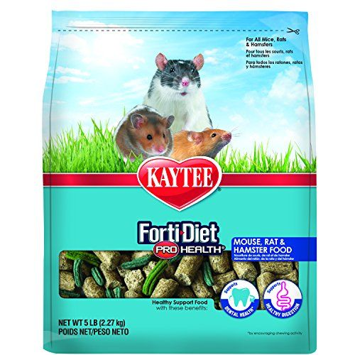 Kaytee Forti Diet Pro Health Small Animal Food For Mice And Rats 5 Pound Hamster Food Food Animals Small Animal Food