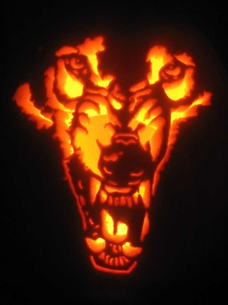Wolf Pumpkin Carving Patterns Simple Design Inspiration