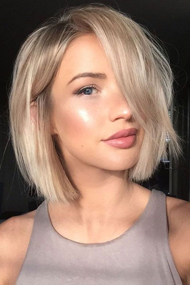 27 Por Medium Length Hairstyles For Those With Long Thick Hair Blond Bob Blunt