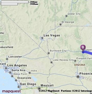 Mapquest Arizona.Driving Directions From Albuquerque New Mexico To Flagstaff