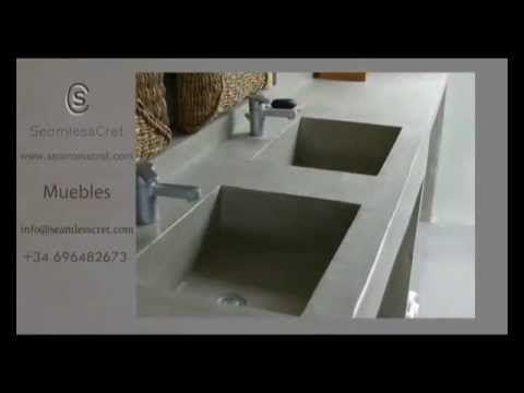 muebles cemento pulido