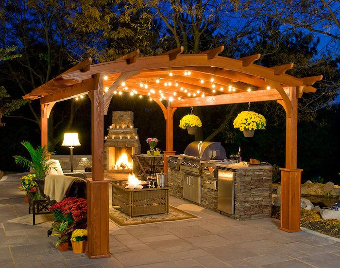 ▷ 1001 + idées Outdoor Living Space Outdoor, Patio, Backyard - Cuisine D Ete Exterieure En Pierre