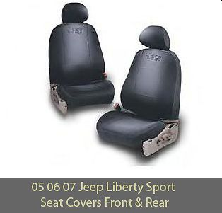 2005 2007 Jeep Liberty Sport U0026 Renegade Seat Covers Front/Rear GENUINE  MOPAR OEM