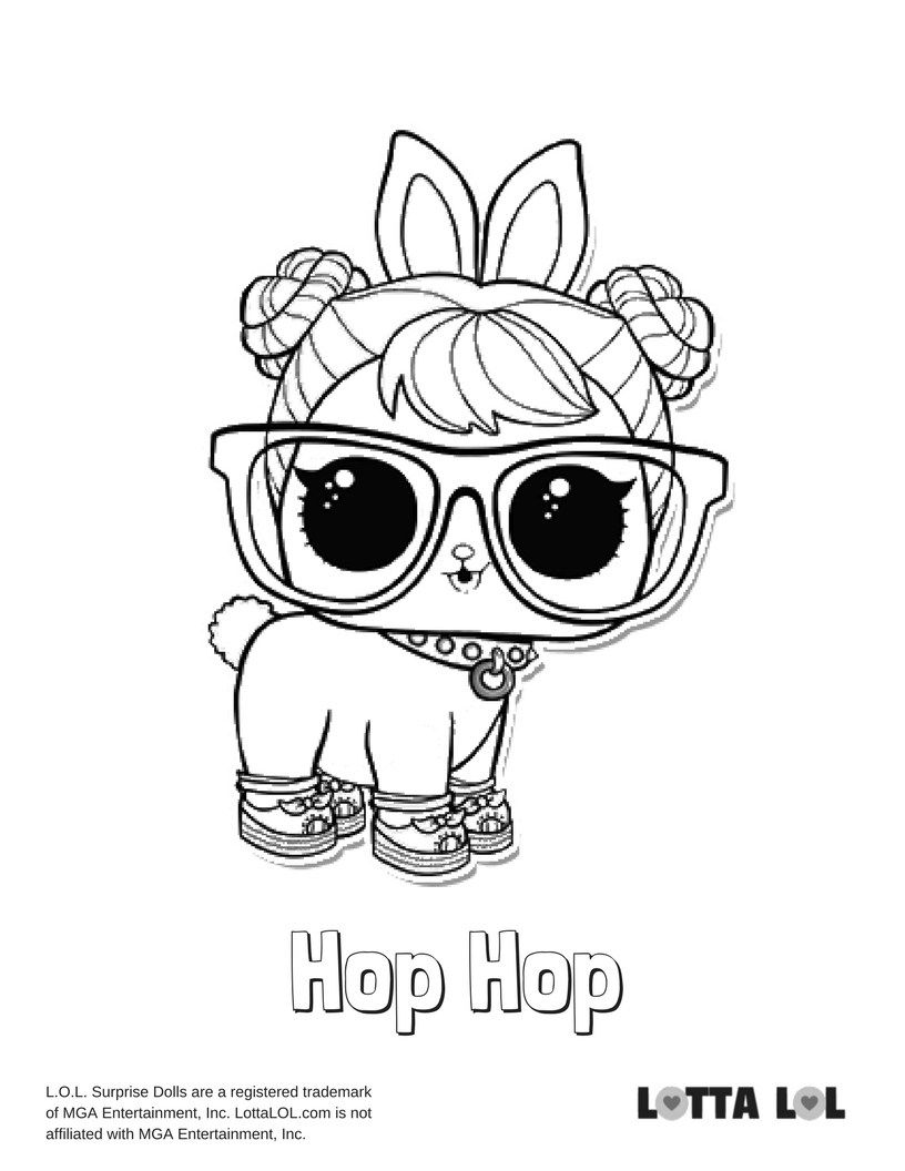Hop Hop Coloring Page Lotta Lol Lol Surprise Series 3 Pets