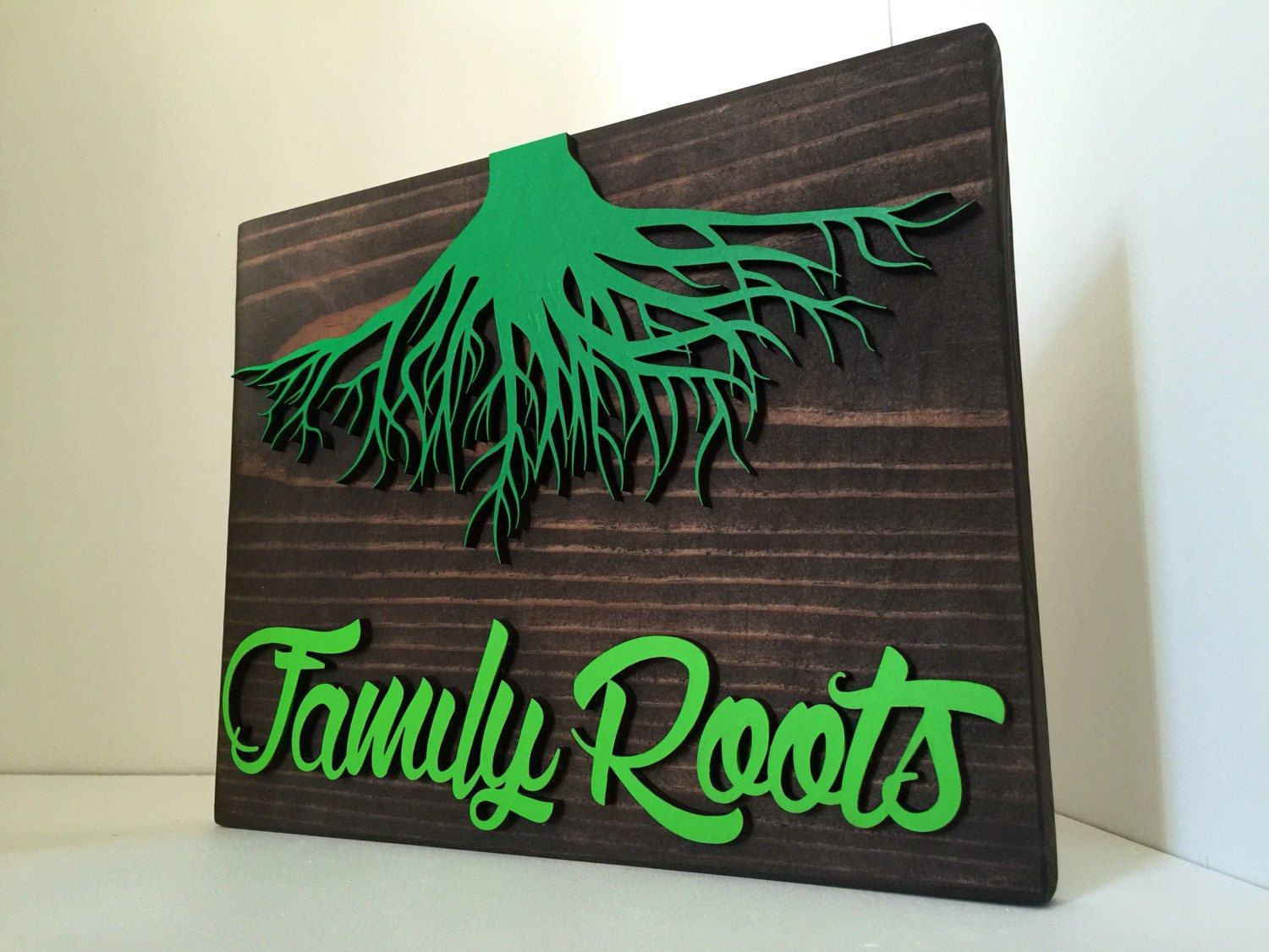 Family Roots custom wood sign