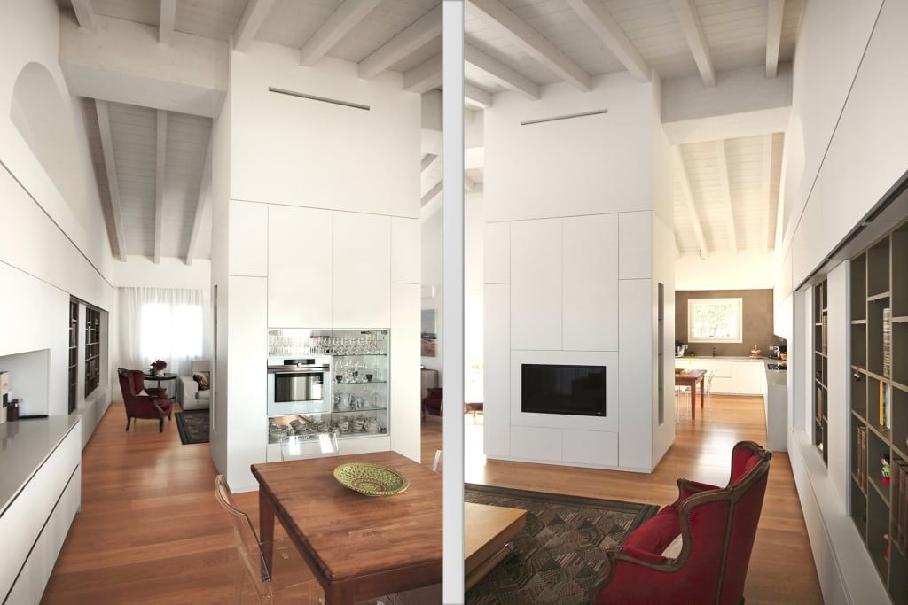 Sala e cucina moderne: ingresso & corridoio in stile di jfd ...
