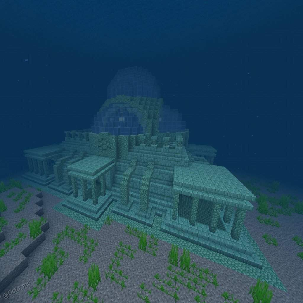 The New Ocean Monument With Images Minecraft Blueprints