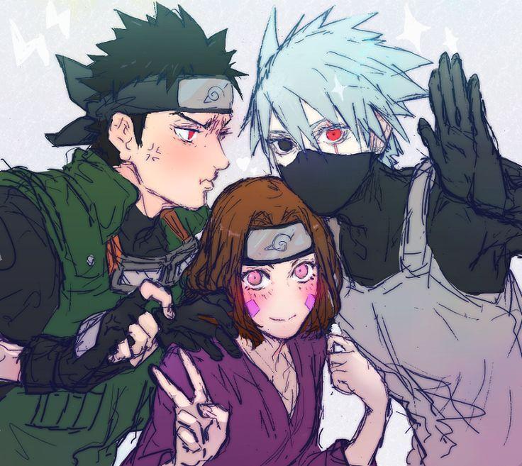 Naruto - Obito, Kakashi And Rin