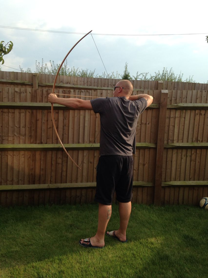 38lb traditional English longbow, ipe, bilou and hickory