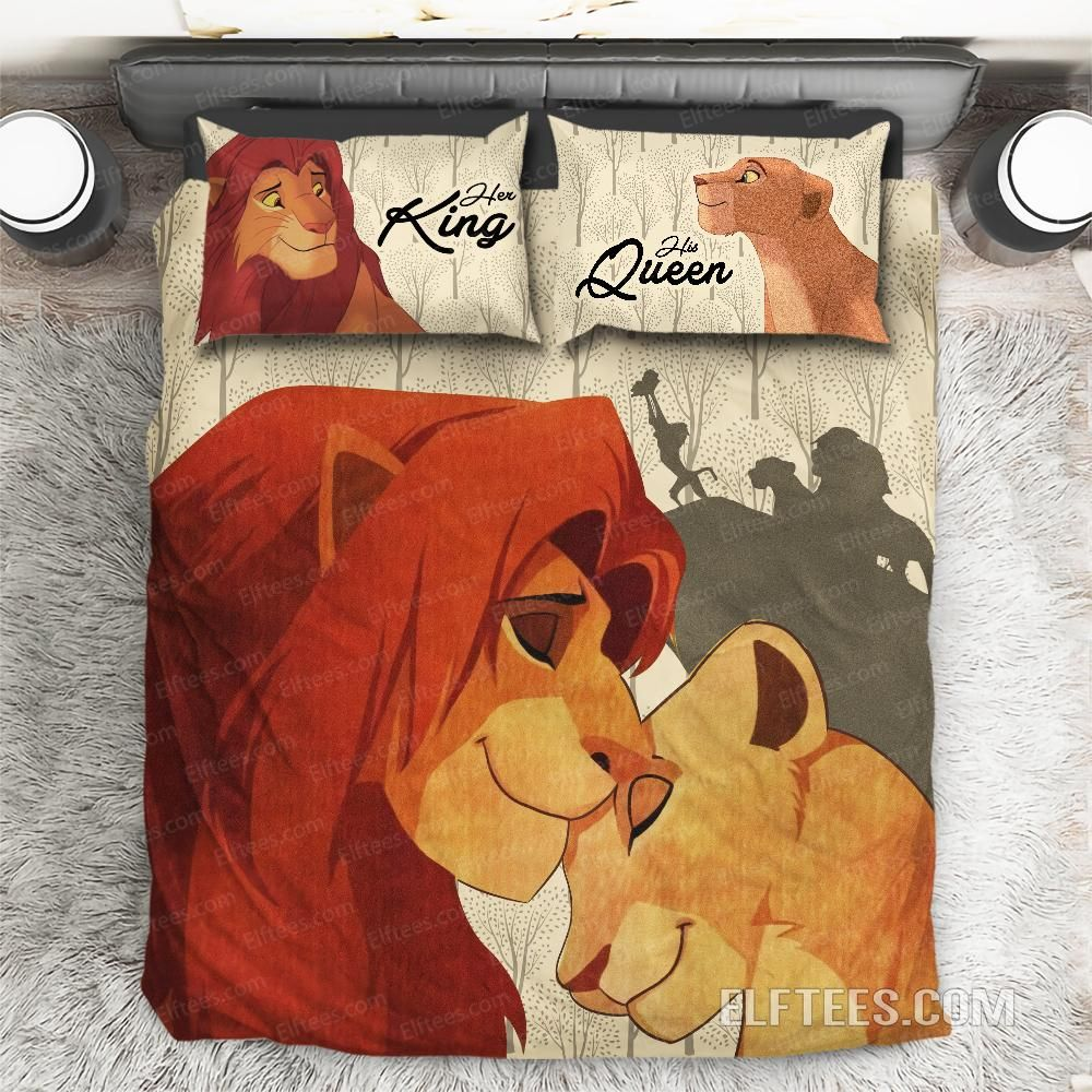 Vintage The Lion King Bed Set Simpa And Nala Queen And King