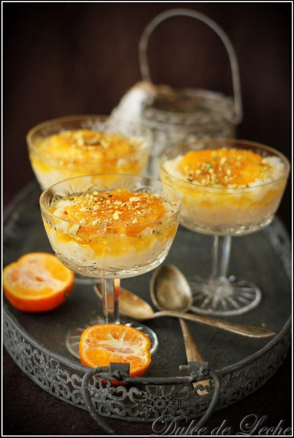 Dulce de Leche: Ryžový puding s karamelizovanými pomarančmi a pist...