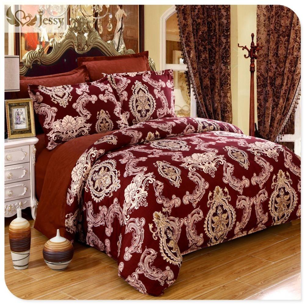 New Design 4pcs Luxury European Jacquard bedding set Duvet
