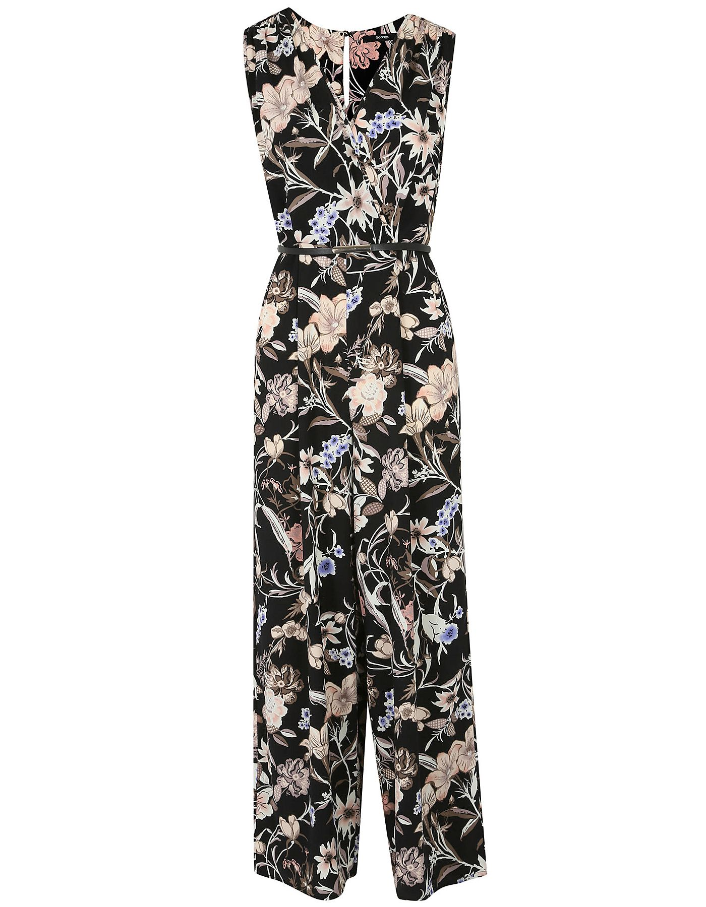 a867081dd53 Belted Floral Jumpsuit