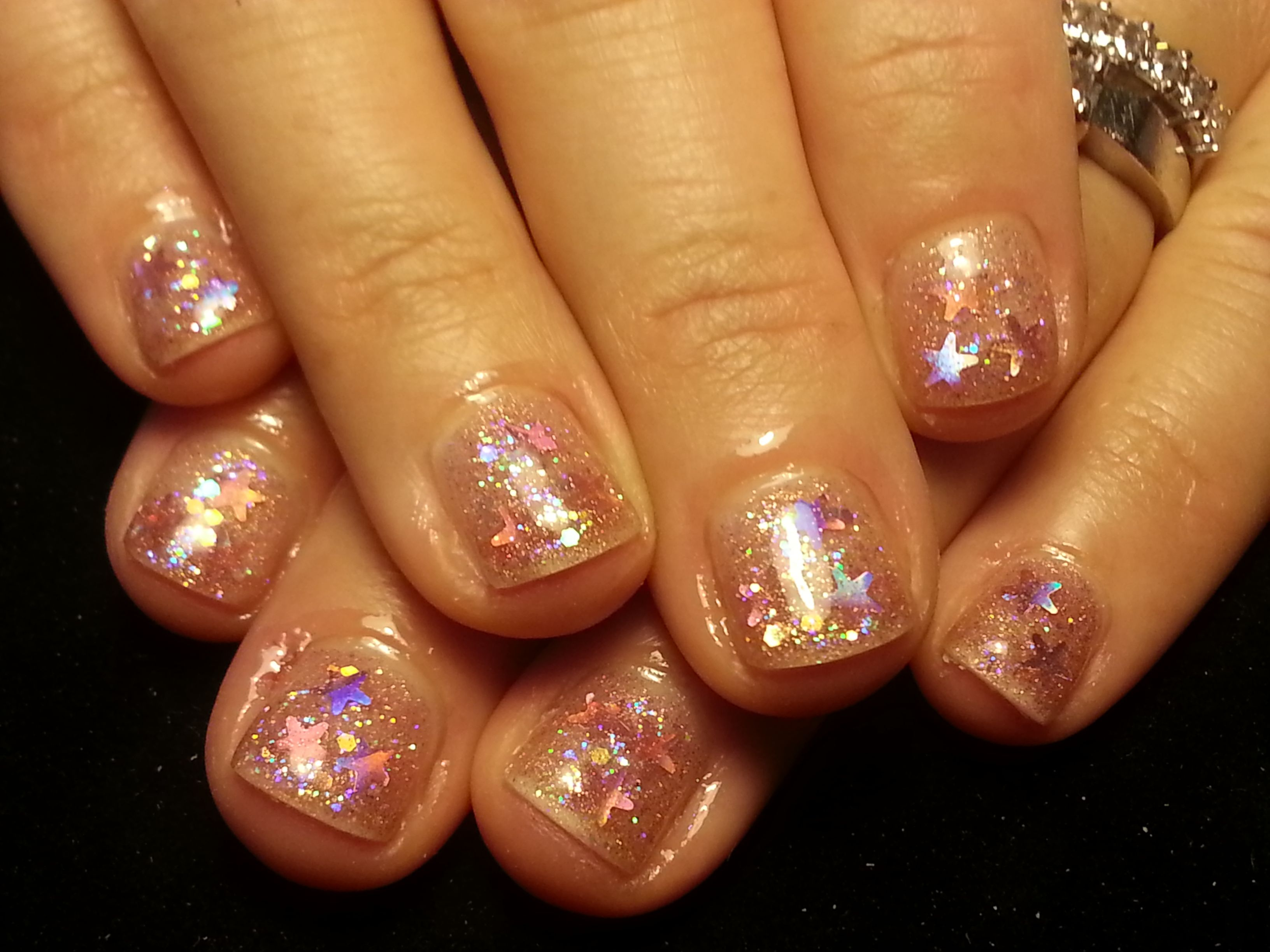 Here I used NSI Body builder Gel with CND Additives pigment powder ...