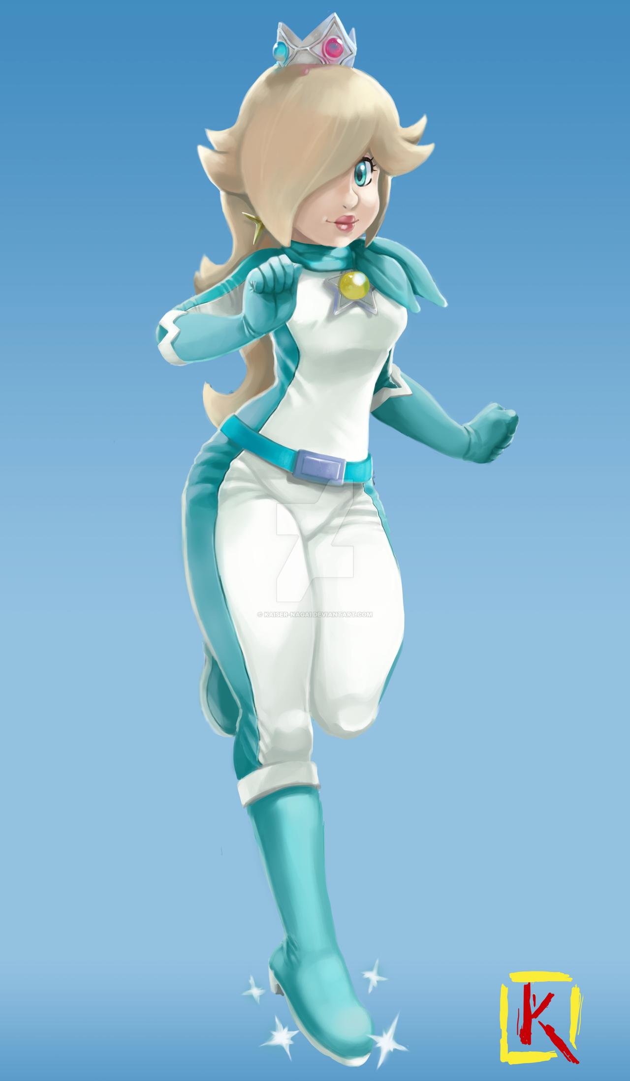 Princess Rosalina (Mario Kart 8 motorcycle suit) by kaiser nagai ...