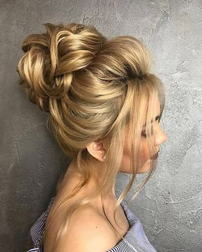 Beautiful Wedding hair bun | Wedding hair buns, Hair buns and Low updo