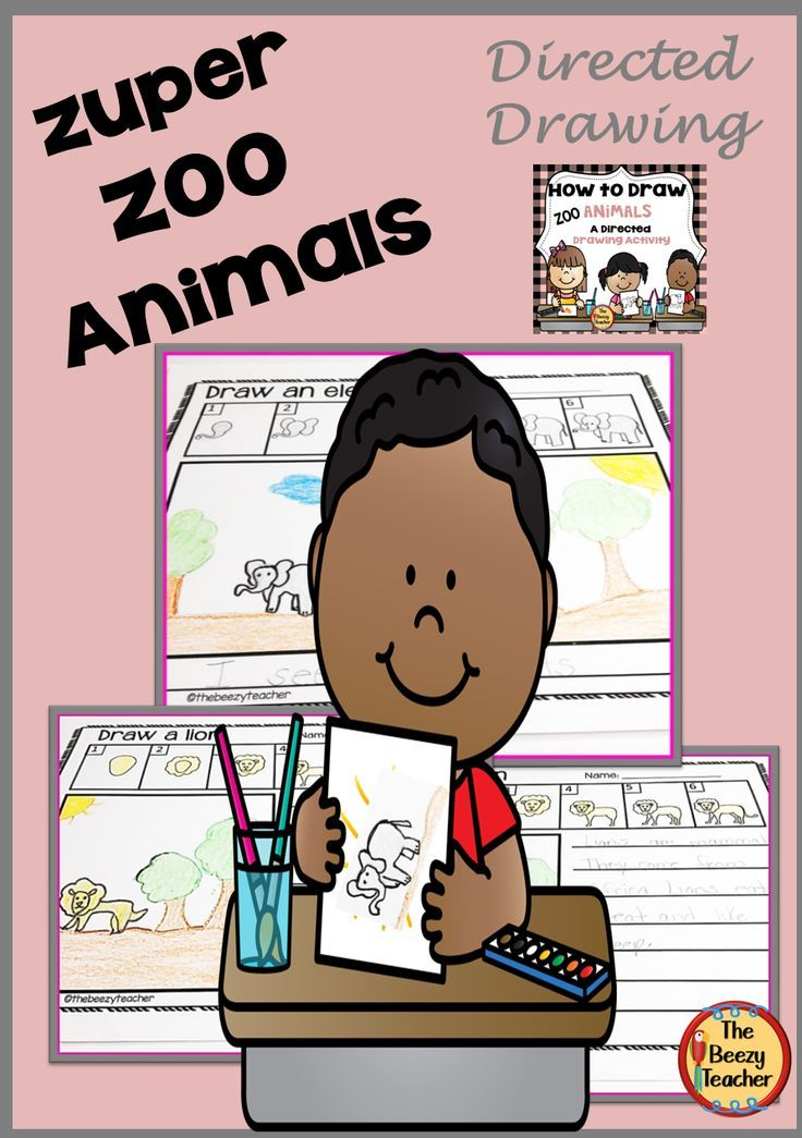 Zoo Animals A How to Draw Directed Drawing Activity in