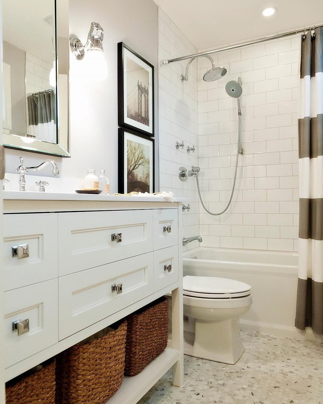 image may contain indoor  narrow bathroom designs long