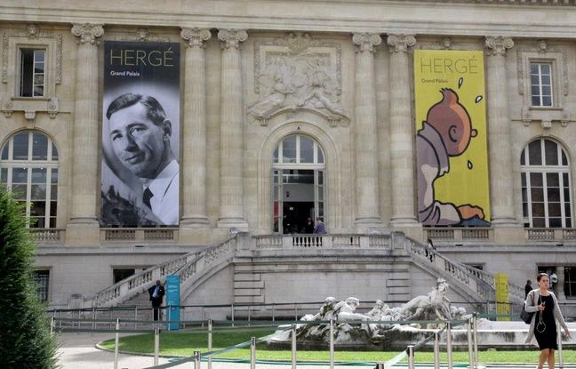 Exposition Hergé, façade du Grand Palais