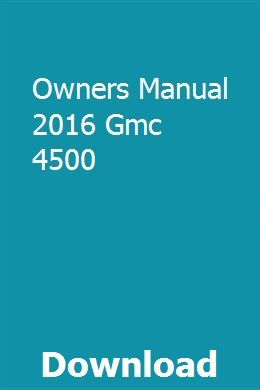 2016 gmc sierra owners manual pdf