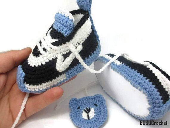 Babyschuhe Babyschuhe häkeln häkeln Baby Turnschuhe von