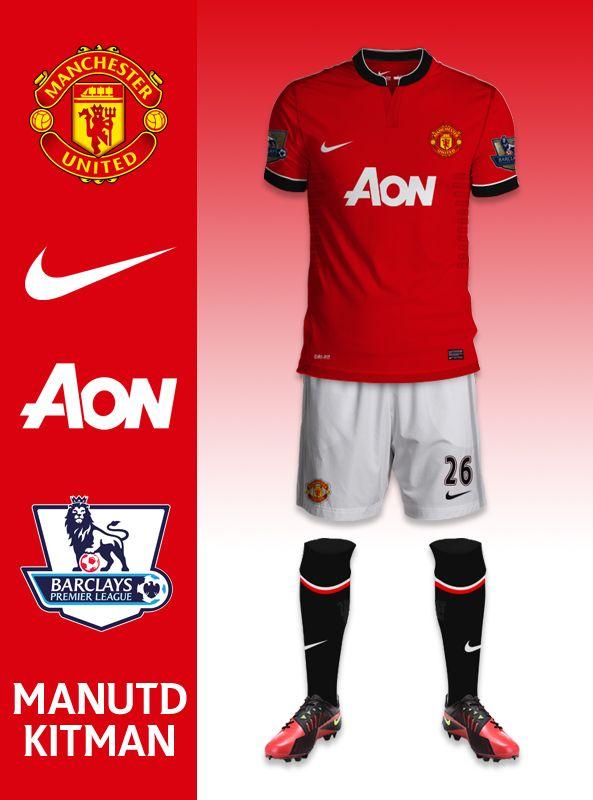 Manchester United T-Shirt Logo Man Utd F.C Premier League T Shirt