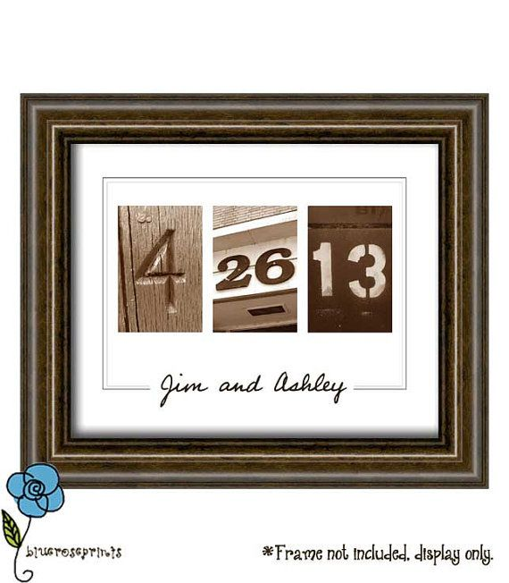 Personalized Wedding Date Printable Wall Art DIY - Engagement ...