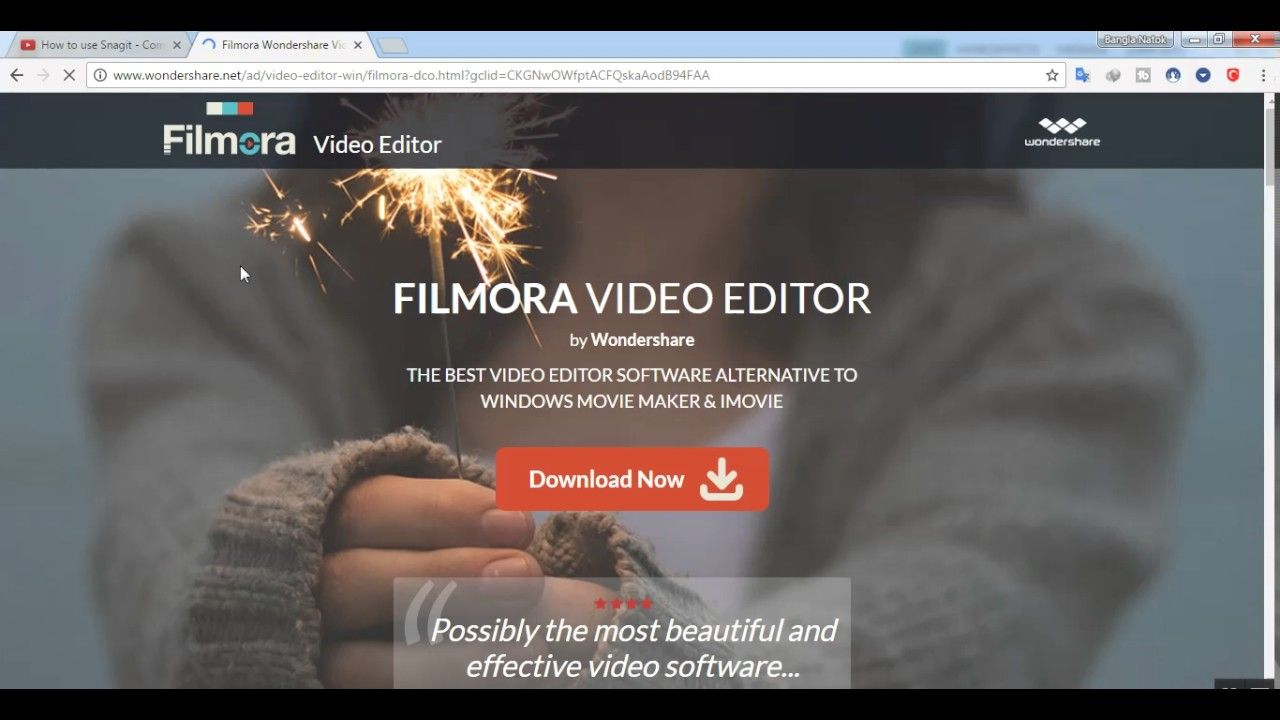 cara download wondershare video editor full version