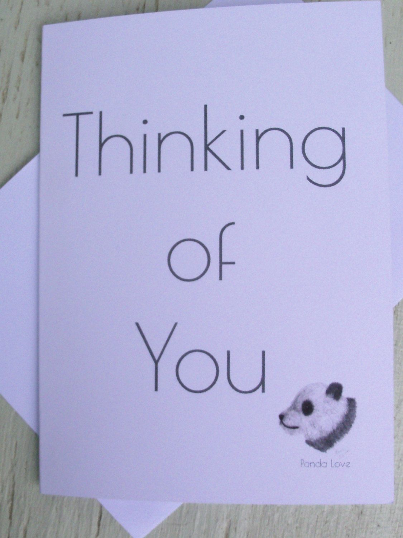 Thinking Of You Greeting Cards Panda Thinking Of You Greeting